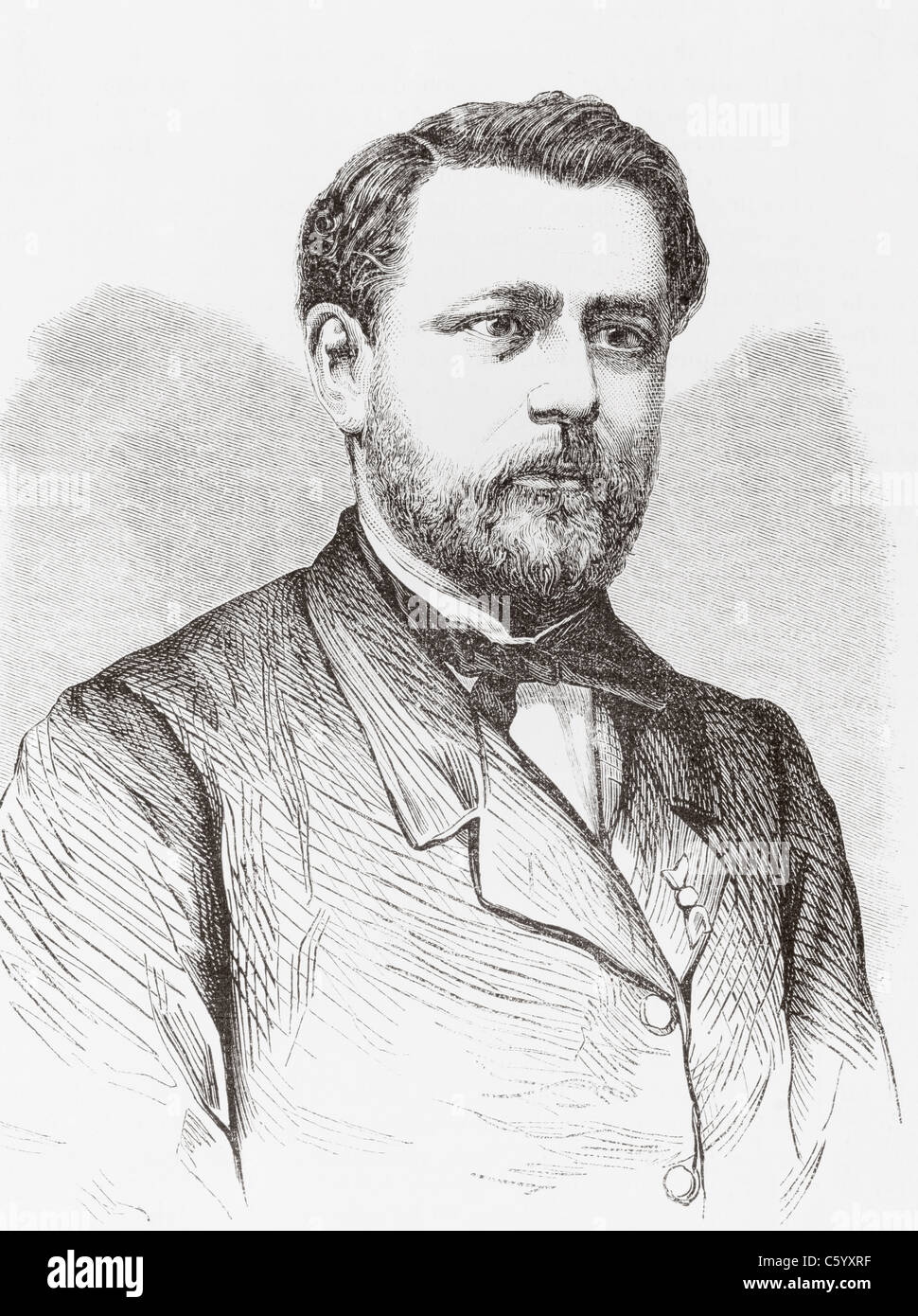 Claudius Chervin, 1824-1896. French specialist in speech impediments. - Stock Image
