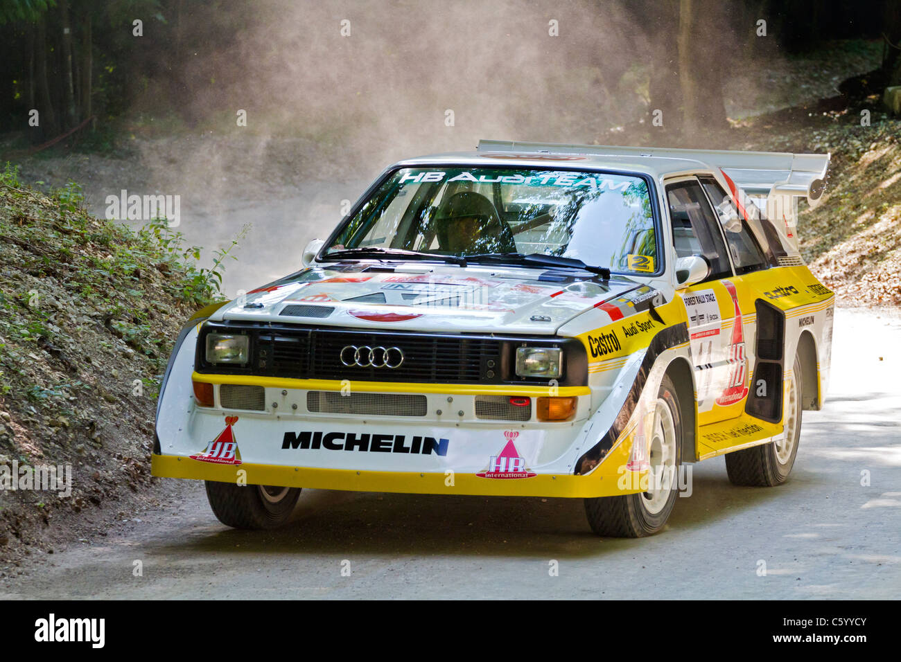 1985 audi sport quattro s1 e2 with driver gary midwinter at the 2011 stock photo 38108251 alamy. Black Bedroom Furniture Sets. Home Design Ideas