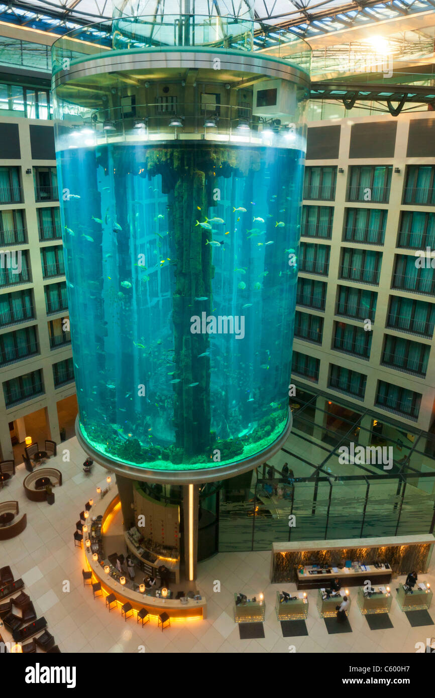 Aqua Dome at Radisson Blu Hotel, Berlin - Stock Image