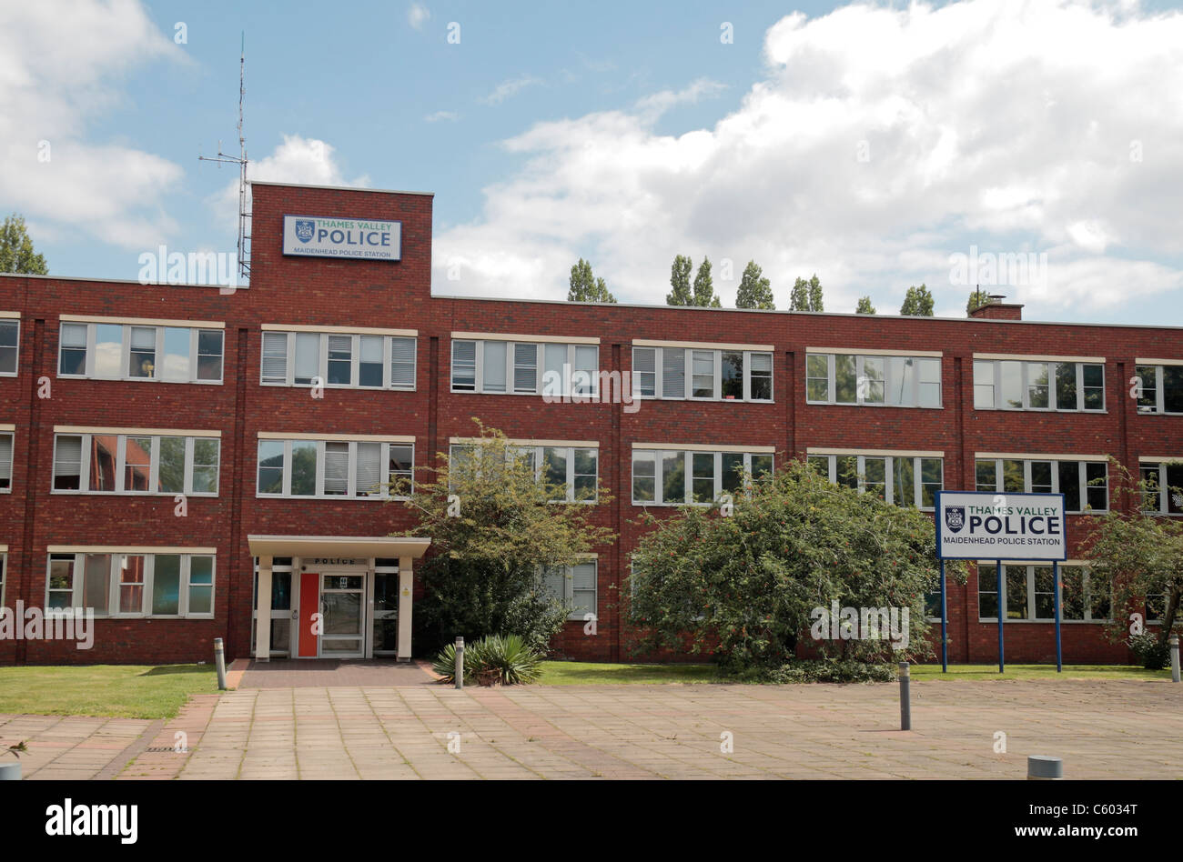 External view of the Thames Valley Police station in Maidenhead, Berkshire, England. - Stock Image