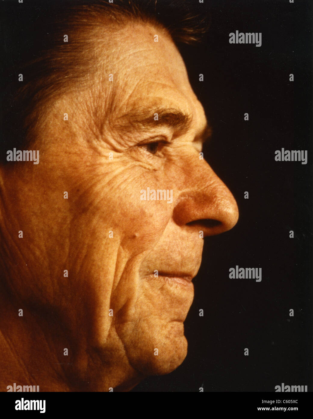 RONALD REAGAN (1911-2004)  as 40th President of the United States Stock Photo