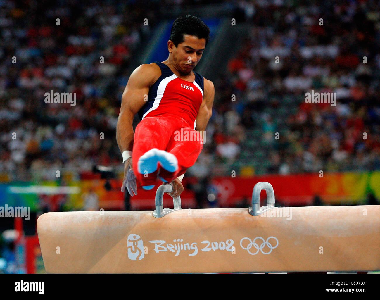 RAJ BHAVSAR USA OLYMPIC STADIUM BEIJING CHINA 12 August 2008 - Stock Image