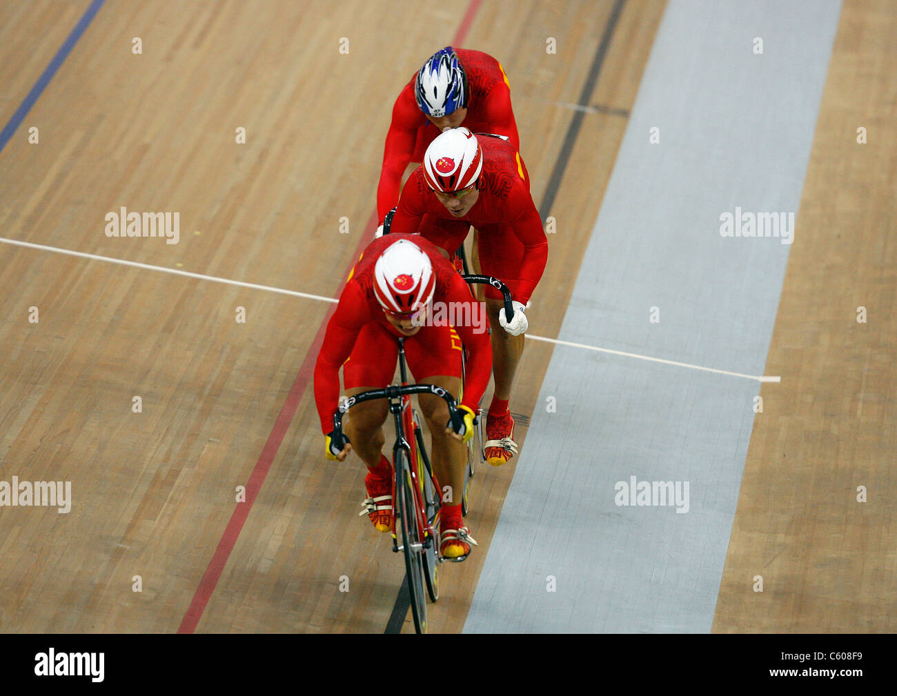 LEI ZHANG YONG FENG & WENHAO CHINA OLYMPIC STADIUM BEIJING CHINA 15 August 2008 - Stock Image