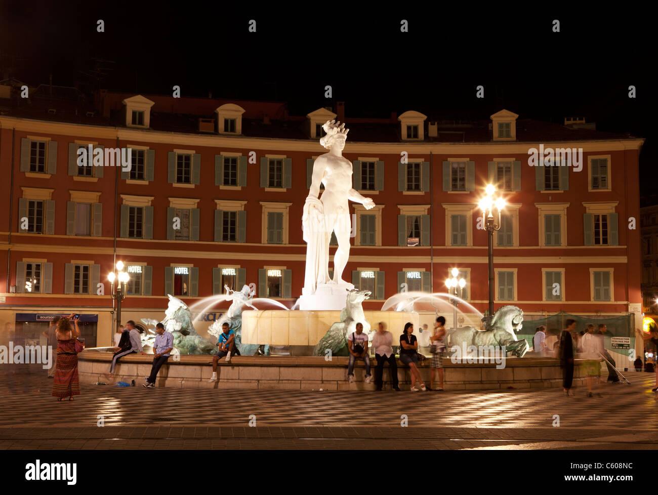 Place Massena, Nice, France - Stock Image