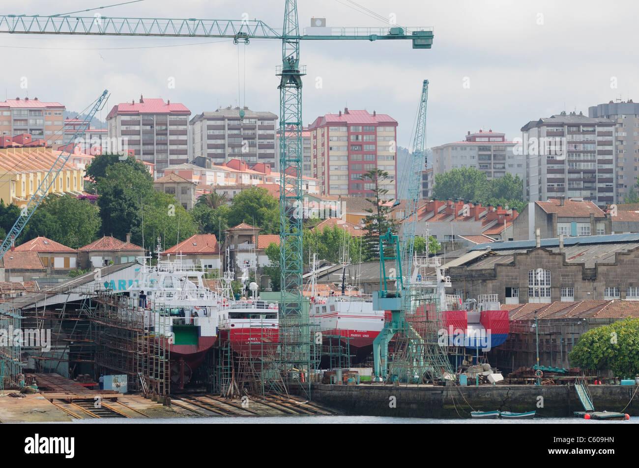 Shipyards. Vigo, Spain - Stock Image