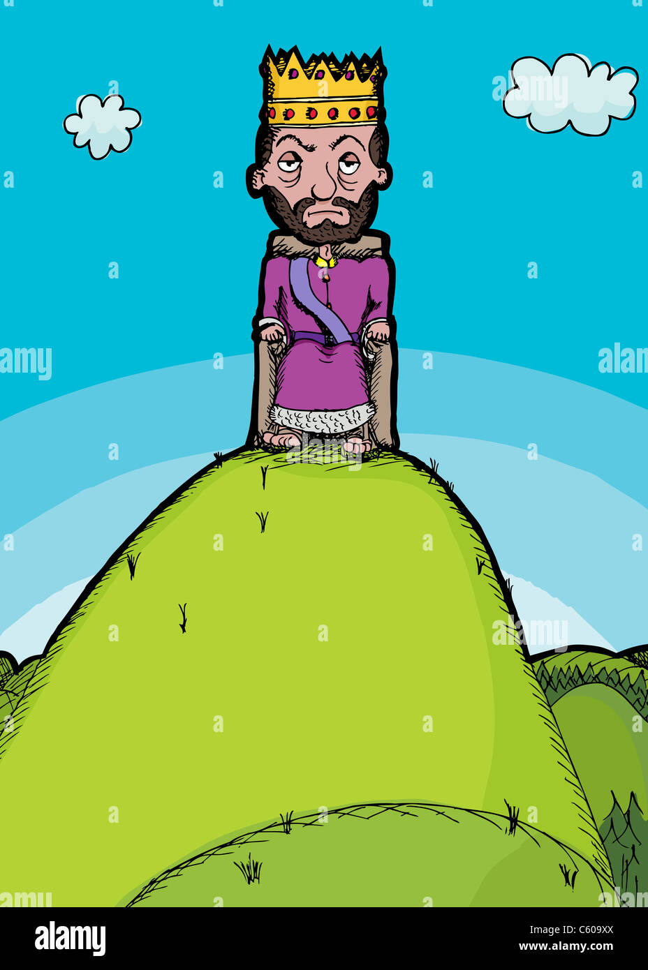 King Of The Hill Cartoon Stock Photos & King Of The Hill Cartoon