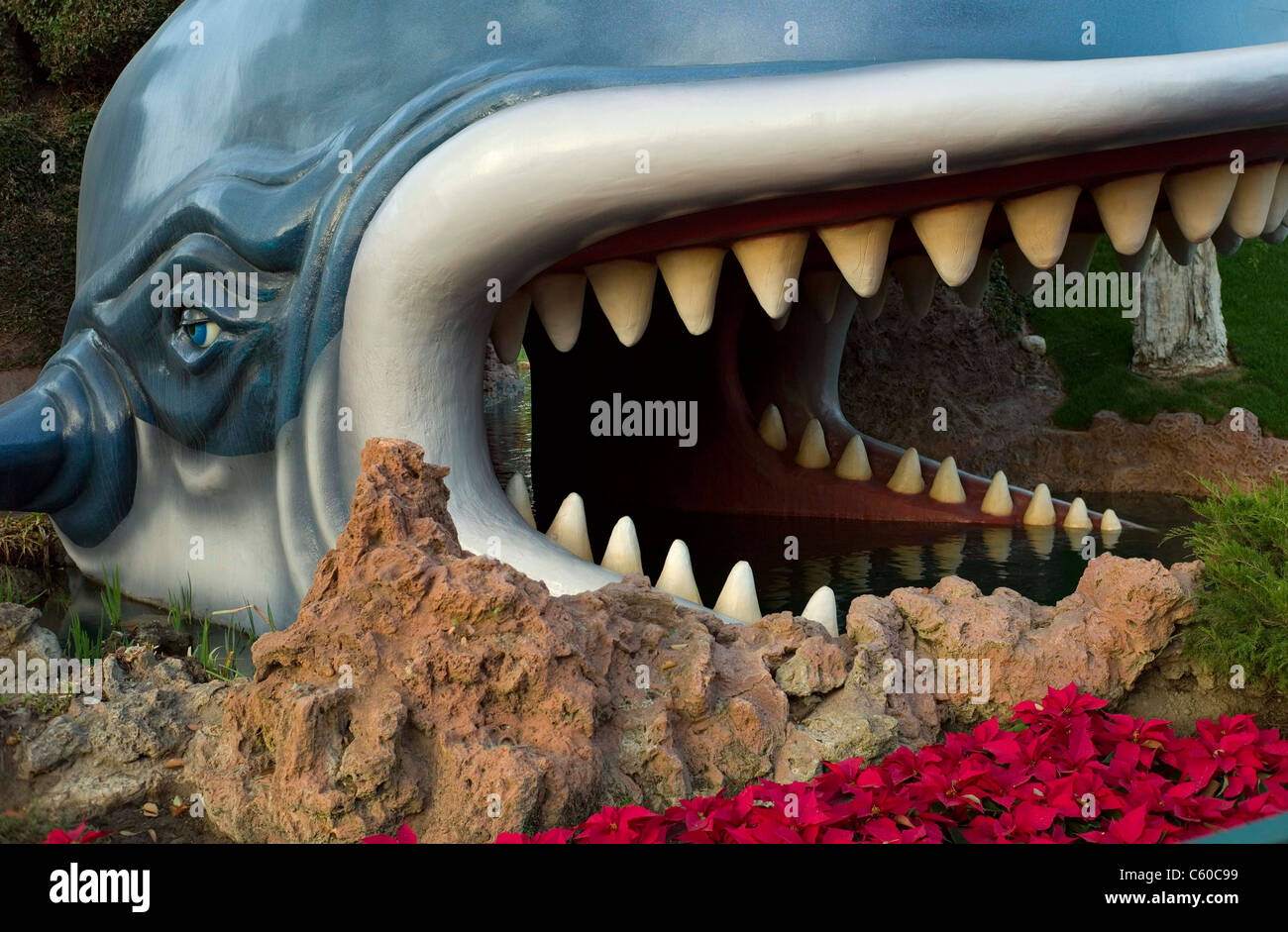 DISNEYLAND Monstro  Story book land canal boat ride - Stock Image