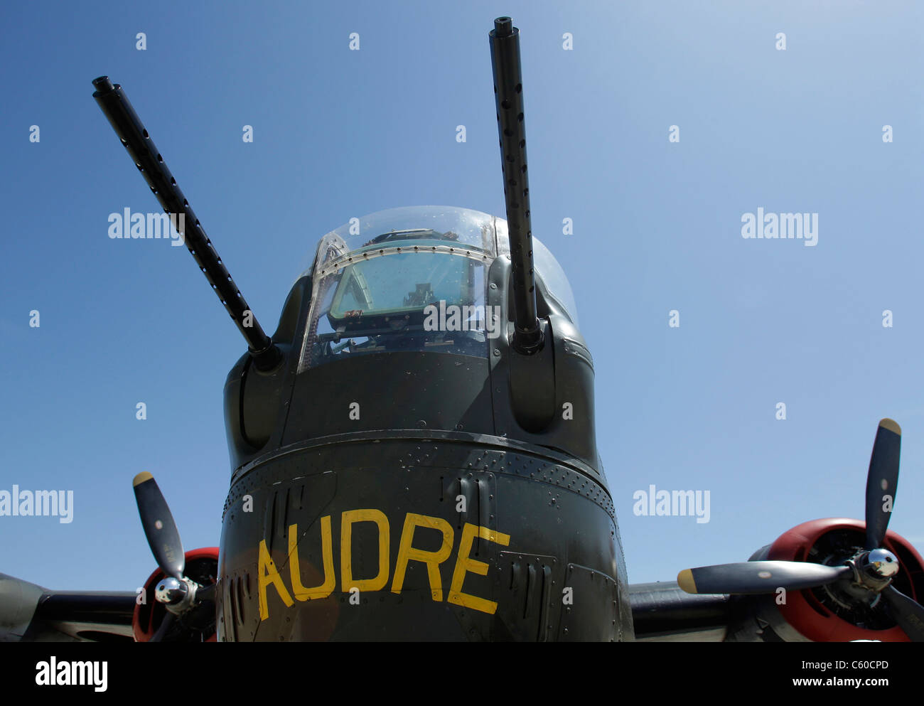 The last airworthy Consolidated B-24J Liberator Friday, Dec. 20, 2011, in Sunnyvale, Calif. - Stock Image