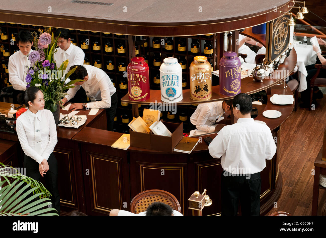 Waiting Staff At Twg Tea Salon Boutique Cafe Restaurant The Stock
