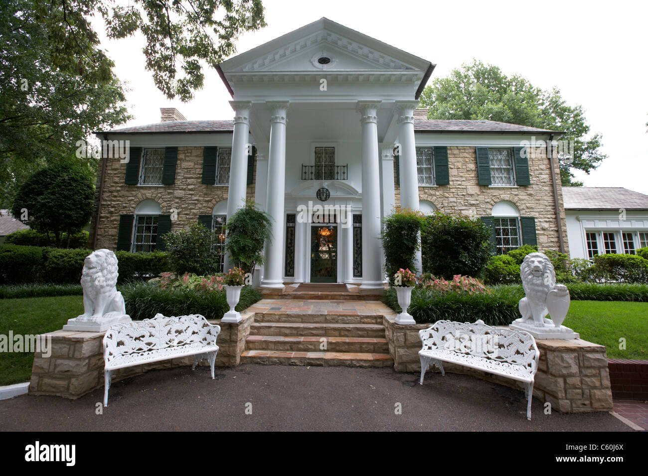 graceland mansion memphis tennessee usa - Stock Image