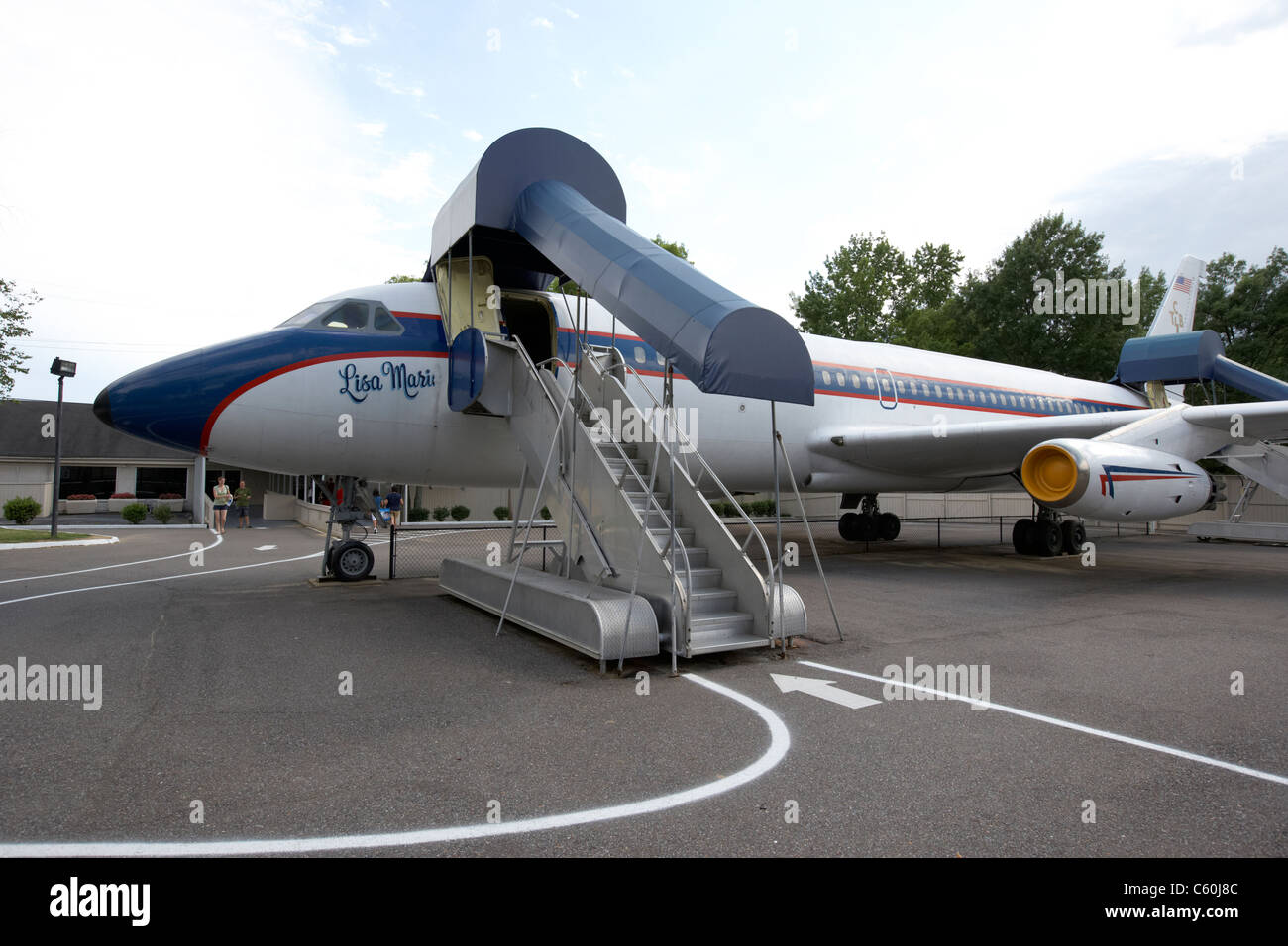 elvis's lisa marie aircraft at graceland memphis tennessee usa - Stock Image