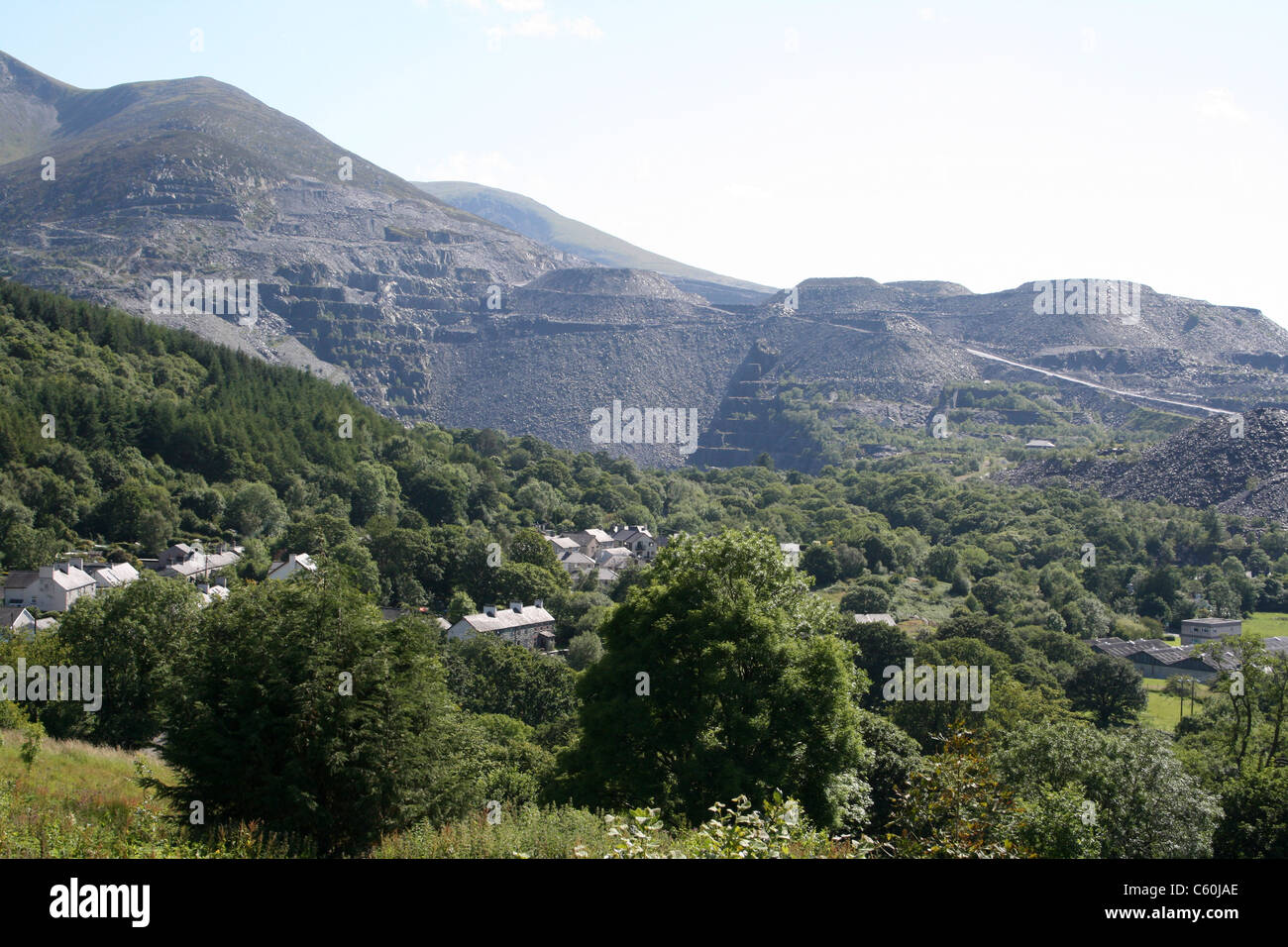 Penrhyn Slate Quarry at Bethesda, Wales Stock Photo