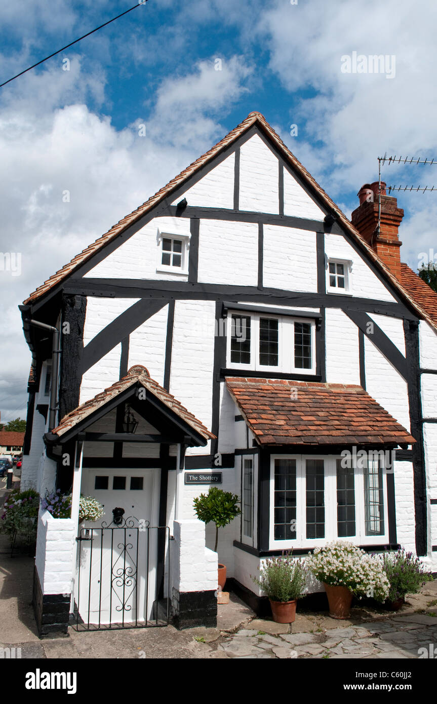 Tudor style cottage, Bray, Berkshire, England, UK - Stock Image