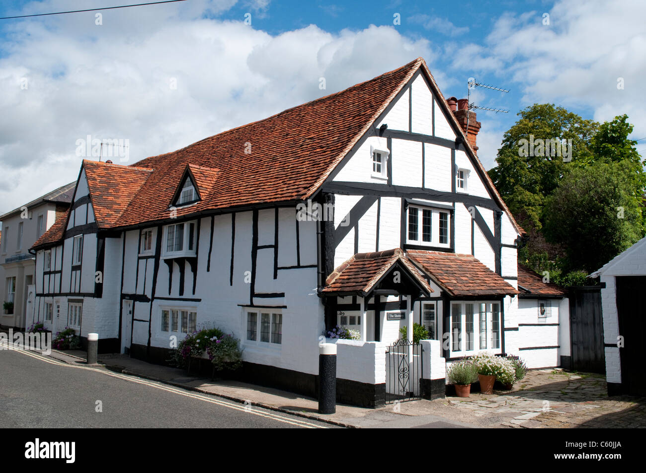Tudor style cottages, Bray, Berkshire, England, UK - Stock Image