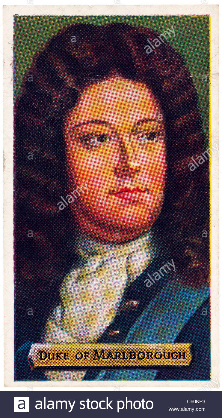 Duke of Marlborough 1650 to 1722, English soldier and statesman. EDITORIAL ONLY - Stock Image
