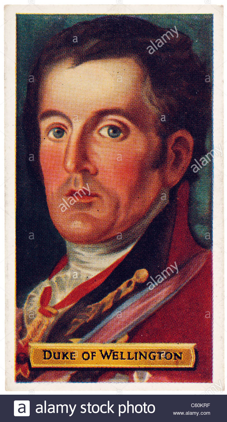 Duke of Wellington, Arthur Wellesley, 1769 to 1852, Anglo-Irish soldier and statesman. EDITORIAL ONLY - Stock Image