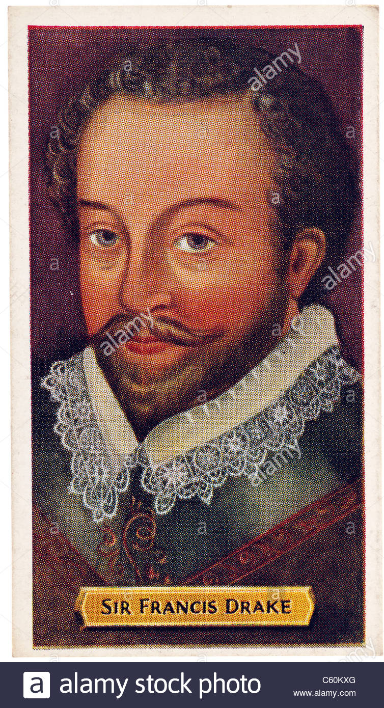 Sir Francis Drake 1540 to 1596, sea captain privateer navigator slaver politician of the Elizabethan era. EDITORIAL - Stock Image