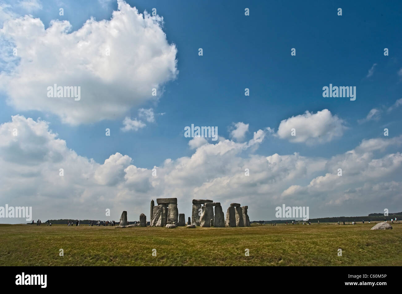 Stonehenge rock formation in field - Stock Image
