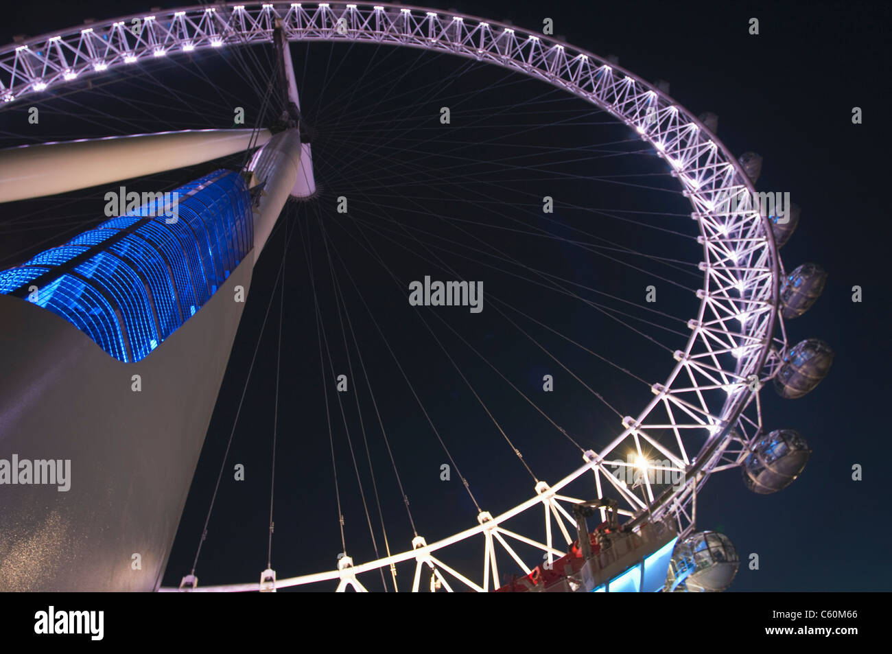 London Eye ferris wheel - Stock Image