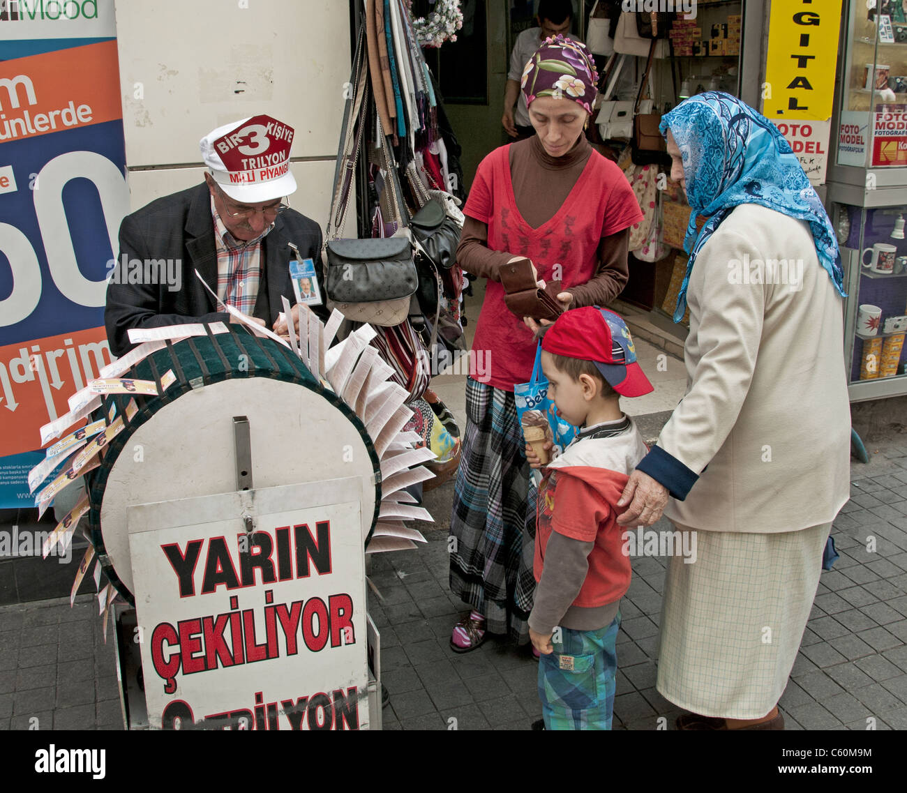 Istanbul Turkey lottery gamble gambling gambler - Stock Image