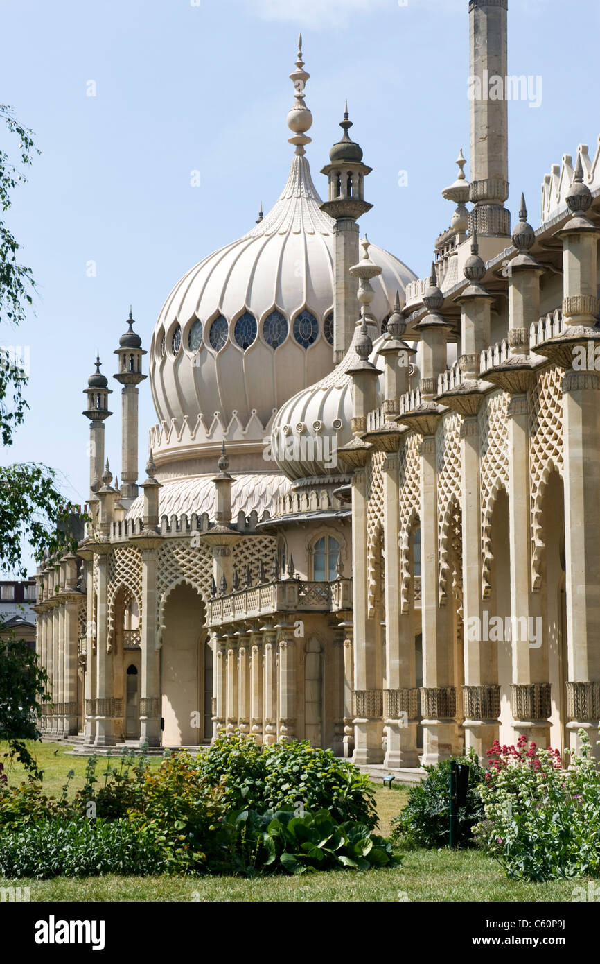Brighton East Sussex The Royal Pavilion built 1787 to 1823 for Prince Regent later George IV by Henry Holland & - Stock Image
