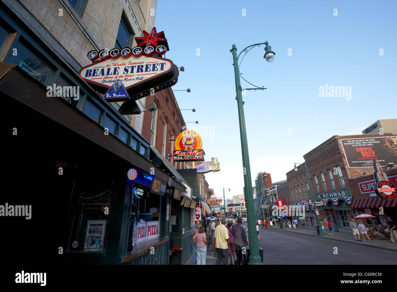 beale street memphis tennessee united states america usa - Stock Image