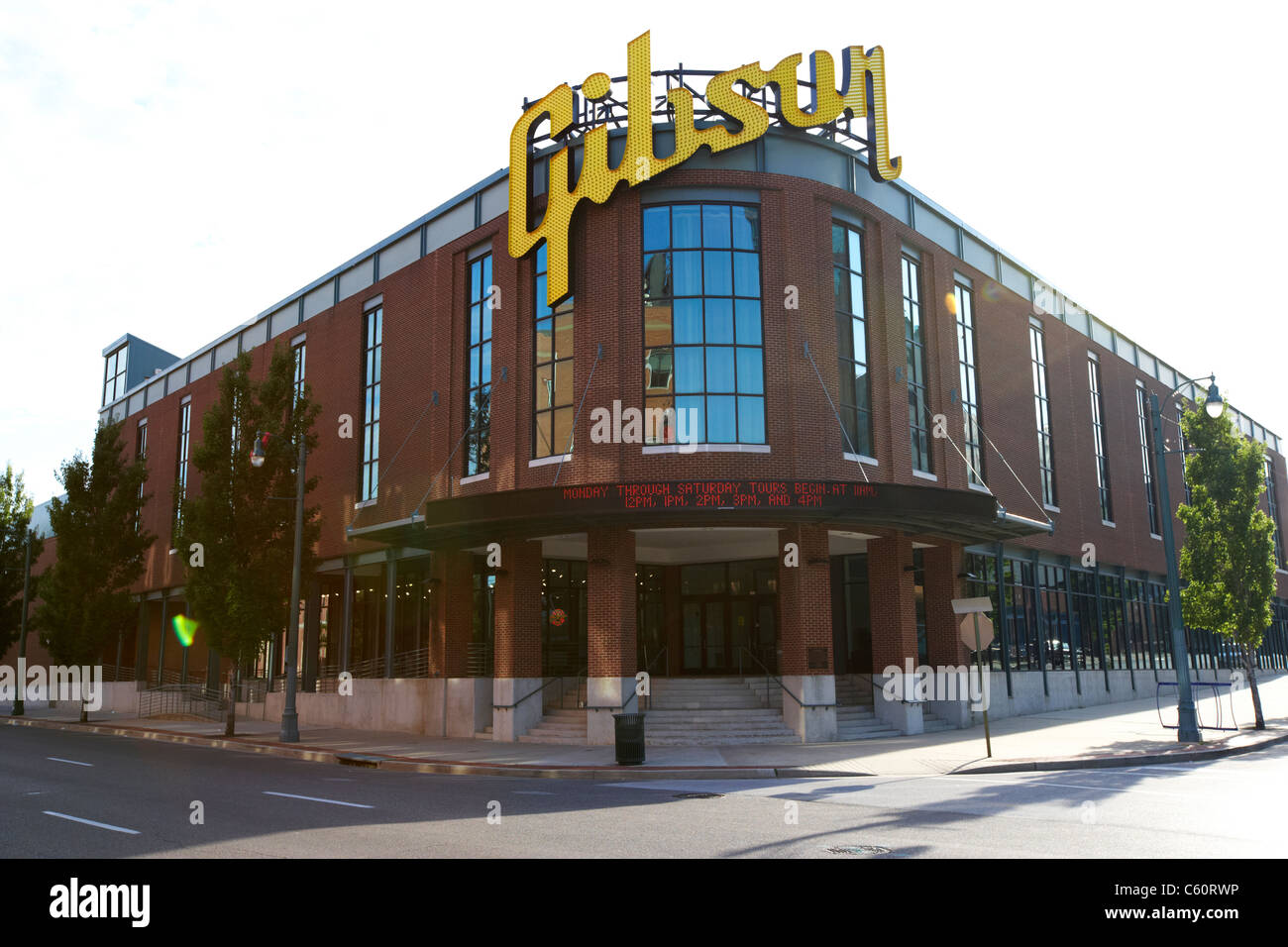 the gibson guitar factory and showcase in memphis tennessee united states america usa - Stock Image
