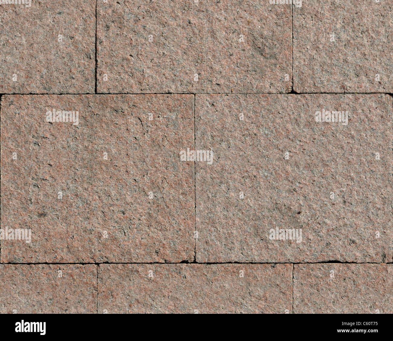 Granit stones texture which perfectly overlap - Stock Image