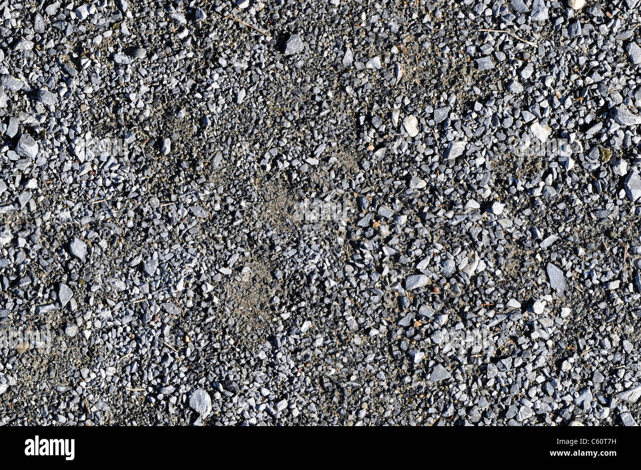 Gravel ground texture which perfectly overlap - Stock Image