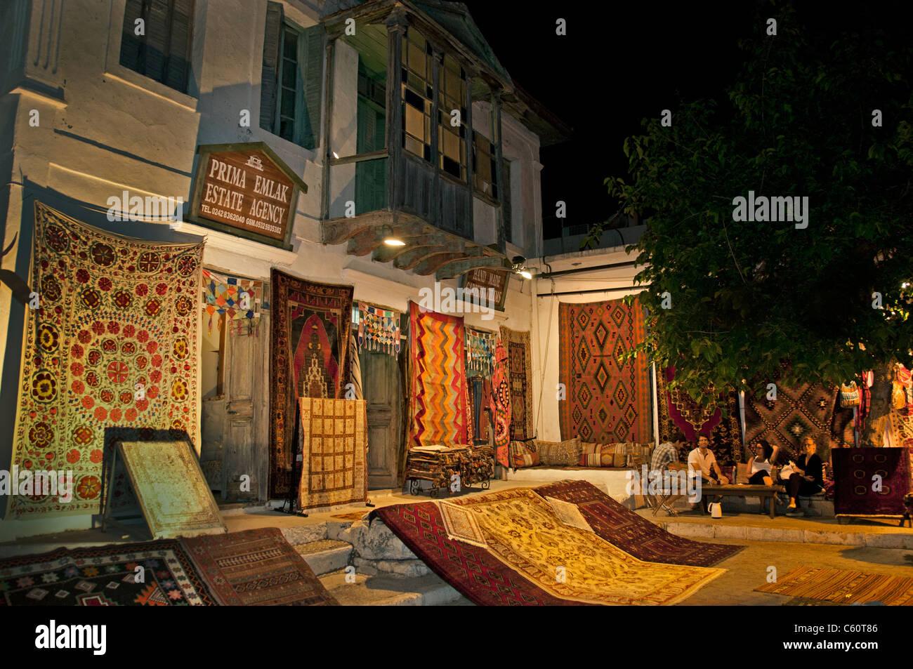 Kas Turkey Turkish Market Bazaar Carpets Carpet - Stock Image
