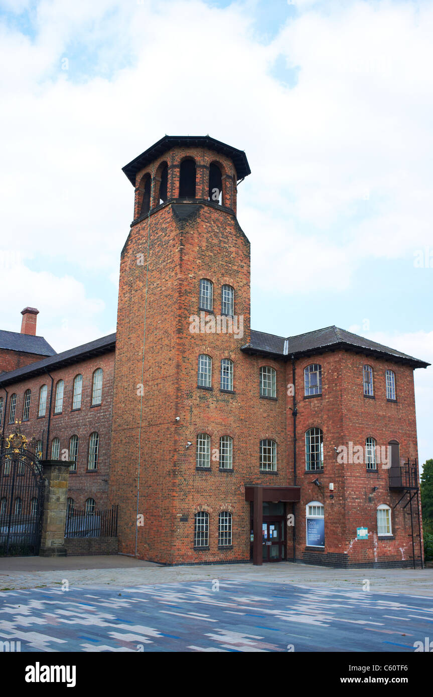 The Old Silk Mill known as the Derby Industrial Museum Derby UK - Stock Image