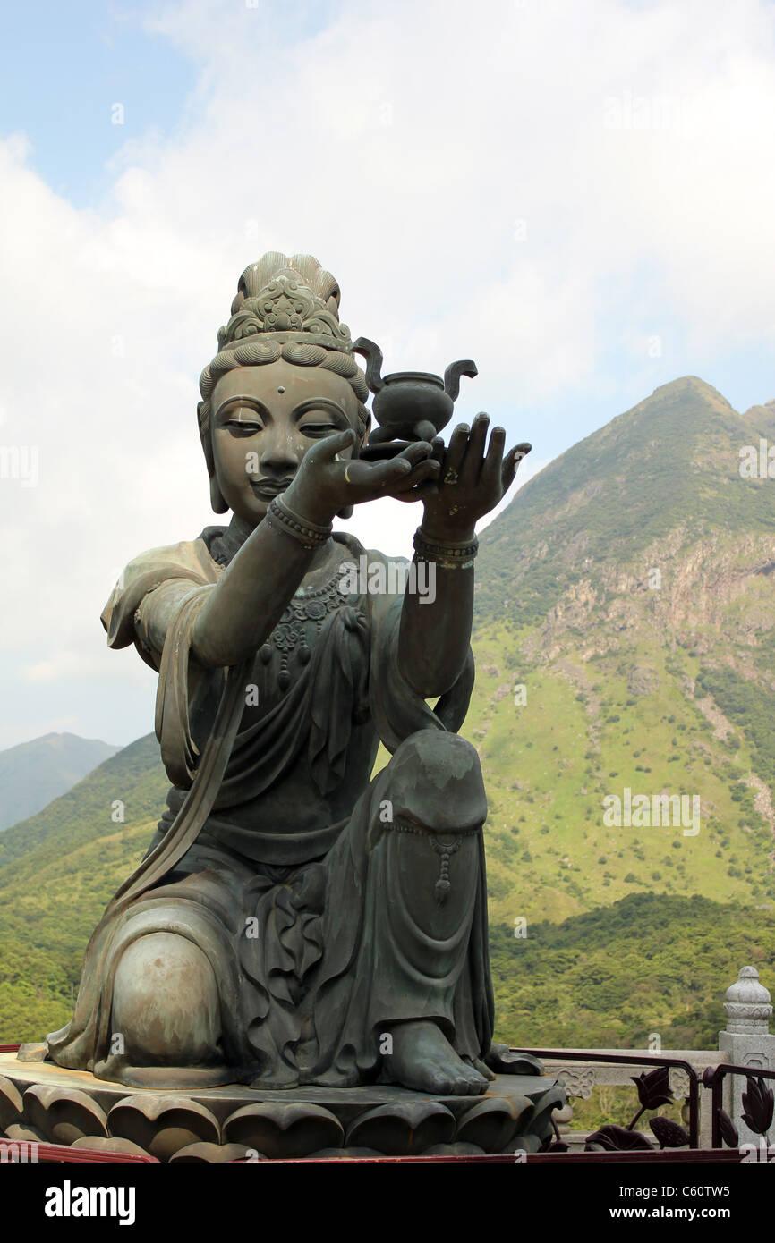 Po Lin Monastery buddha - Stock Image