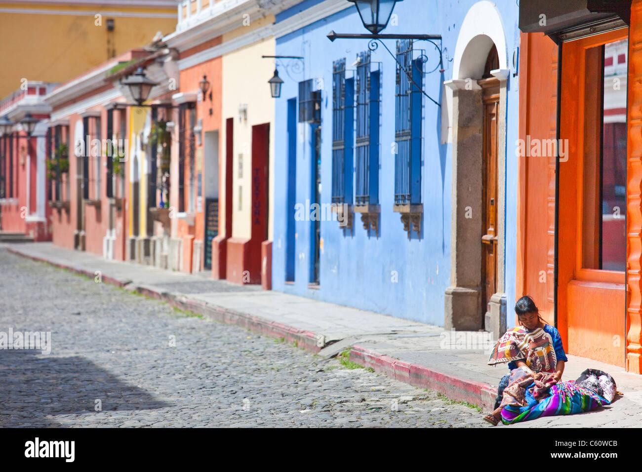 Calle del Arco, Antigua, Guatemala - Stock Image
