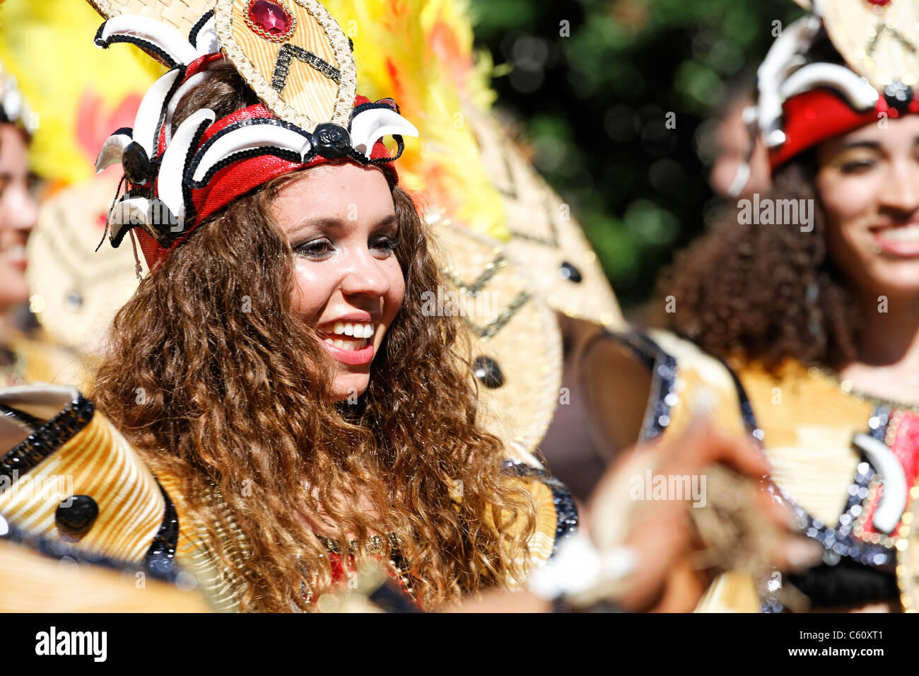 Performer in colourful costume at the 2006 Notting Hill Carnival, London, UK - Stock Image