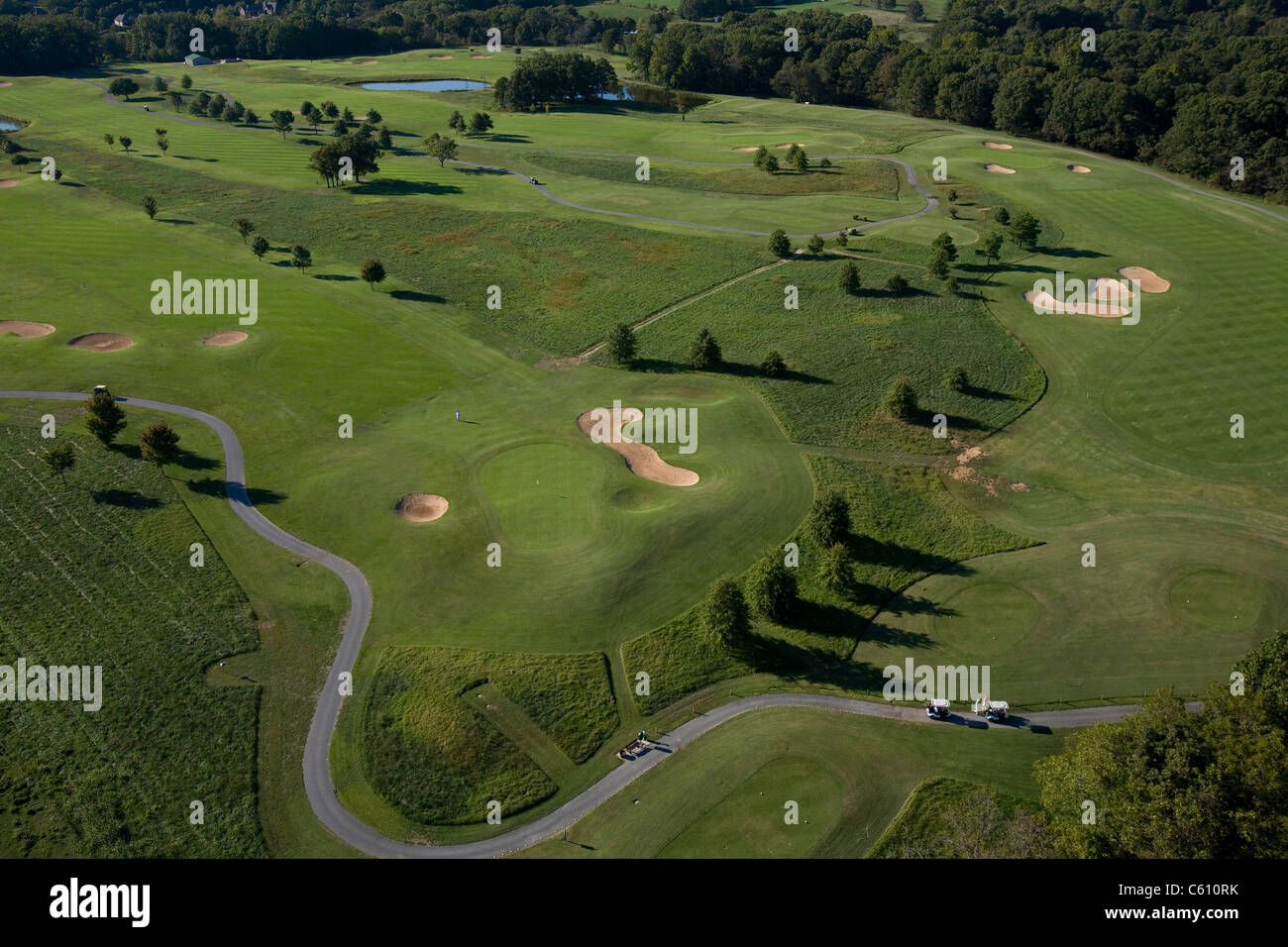 Aerial photo of Dogwood Hills Golf Course in Bella Vista, Ark. - Stock Image