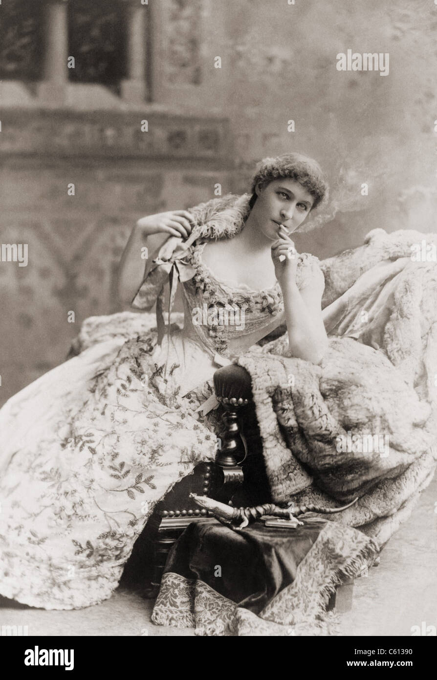 Lillie Langtry (1853-1929), English society beauty and mistress to the Prince of Wales (later Edward VII), became - Stock Image