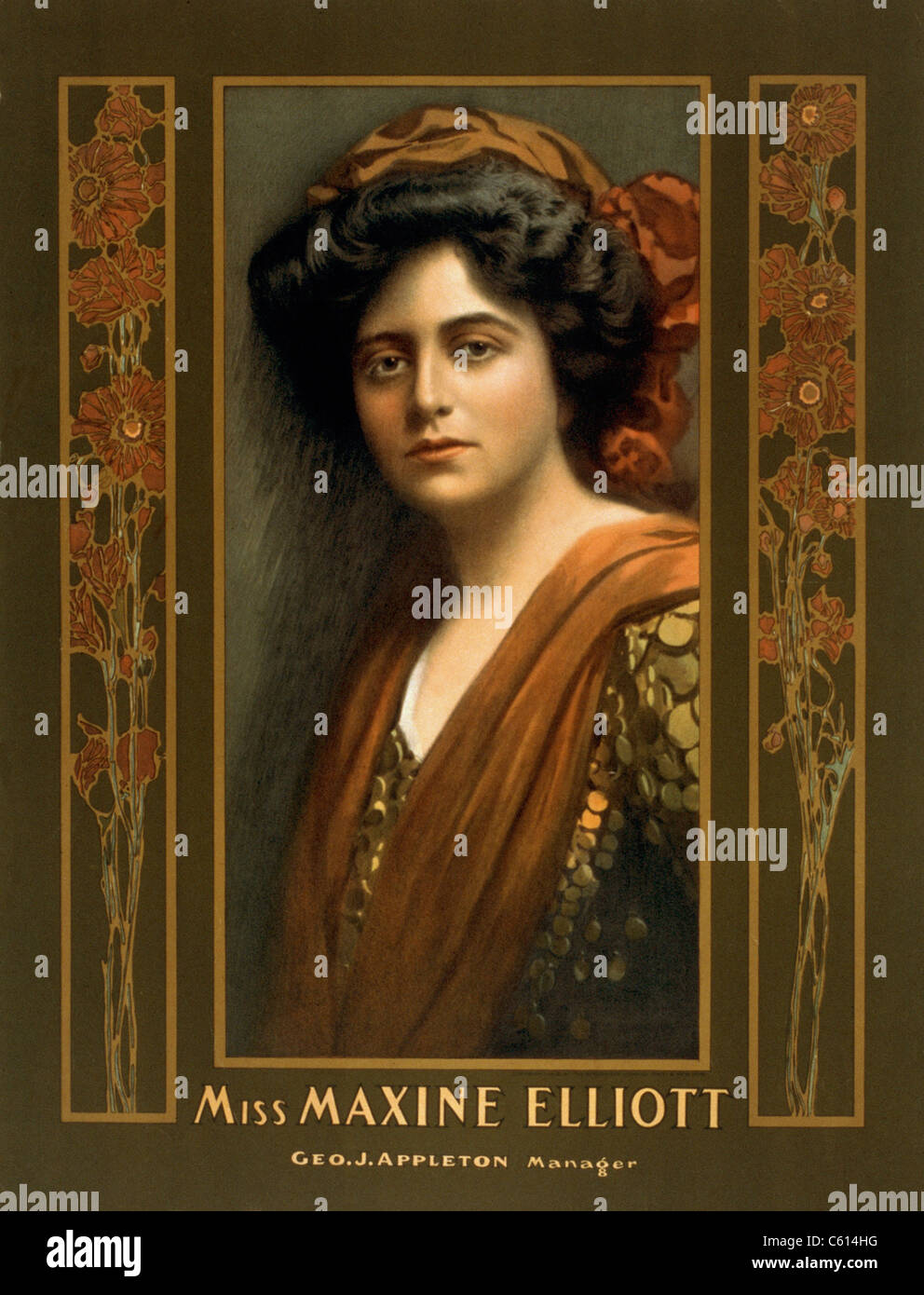 Maxine Elliott 1868-1940 an actress romantically linked with J.P. Morgan in the early 1900s. He is believed to have - Stock Image