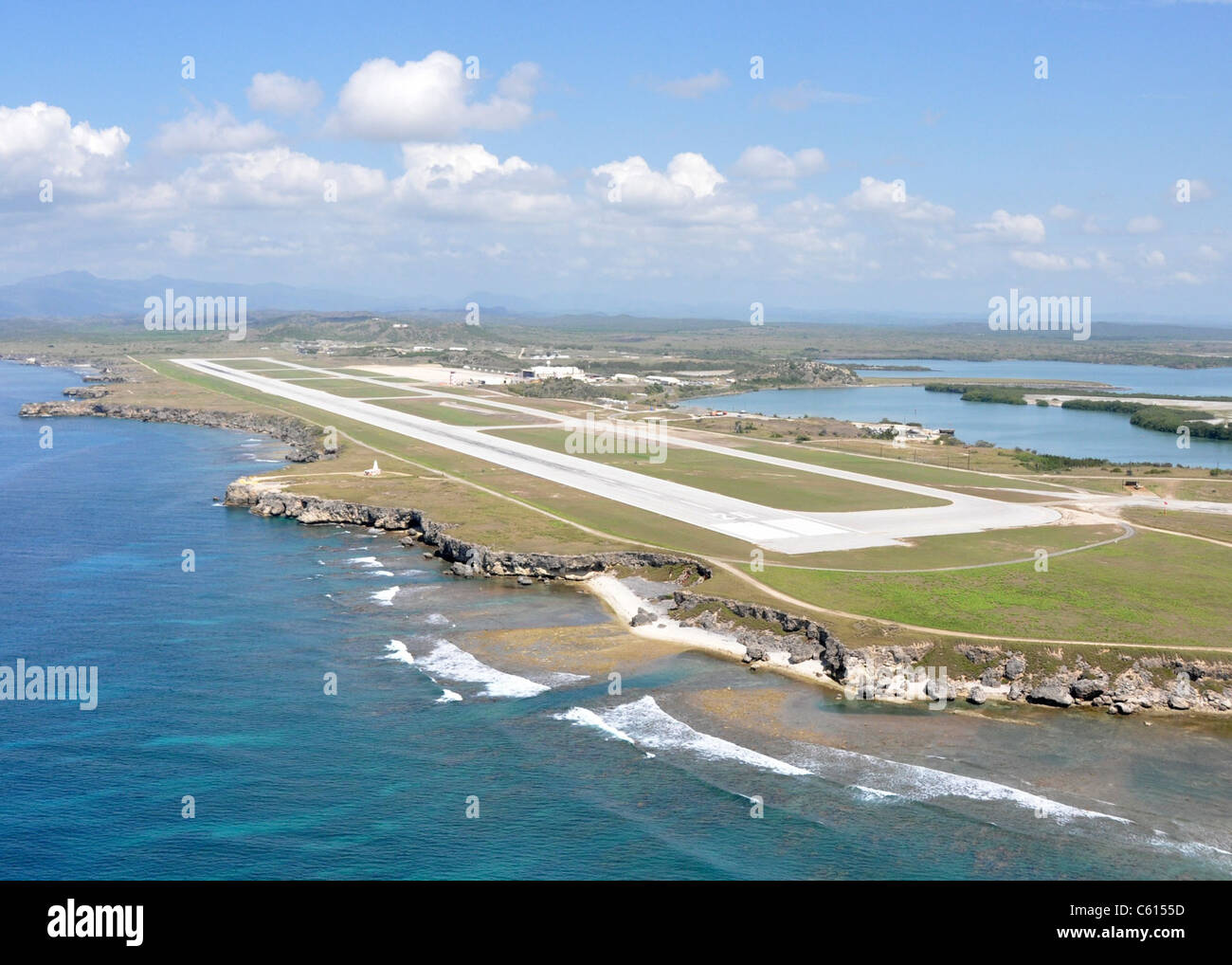 The leeward airfield at U.S. Naval Station Guantanamo Bay Cuba. May 6 2010., Photo by:Everett Collection(BSLOC 2011 Stock Photo