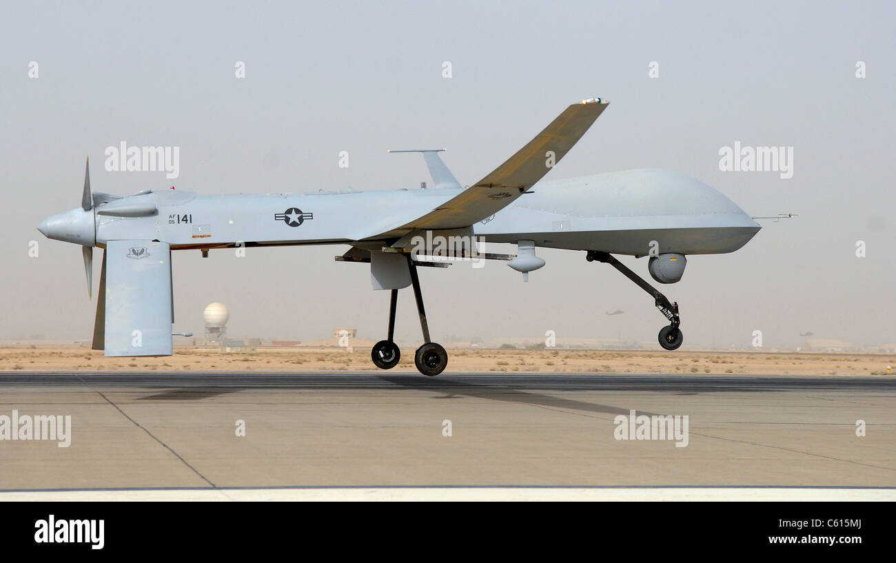 Predator Drone An Unmanned Aircraft Takes Off From Balad Air Base Iraq Thursday June 12 2008 The Remotely Piloted Conducts Armed Reconnaissance