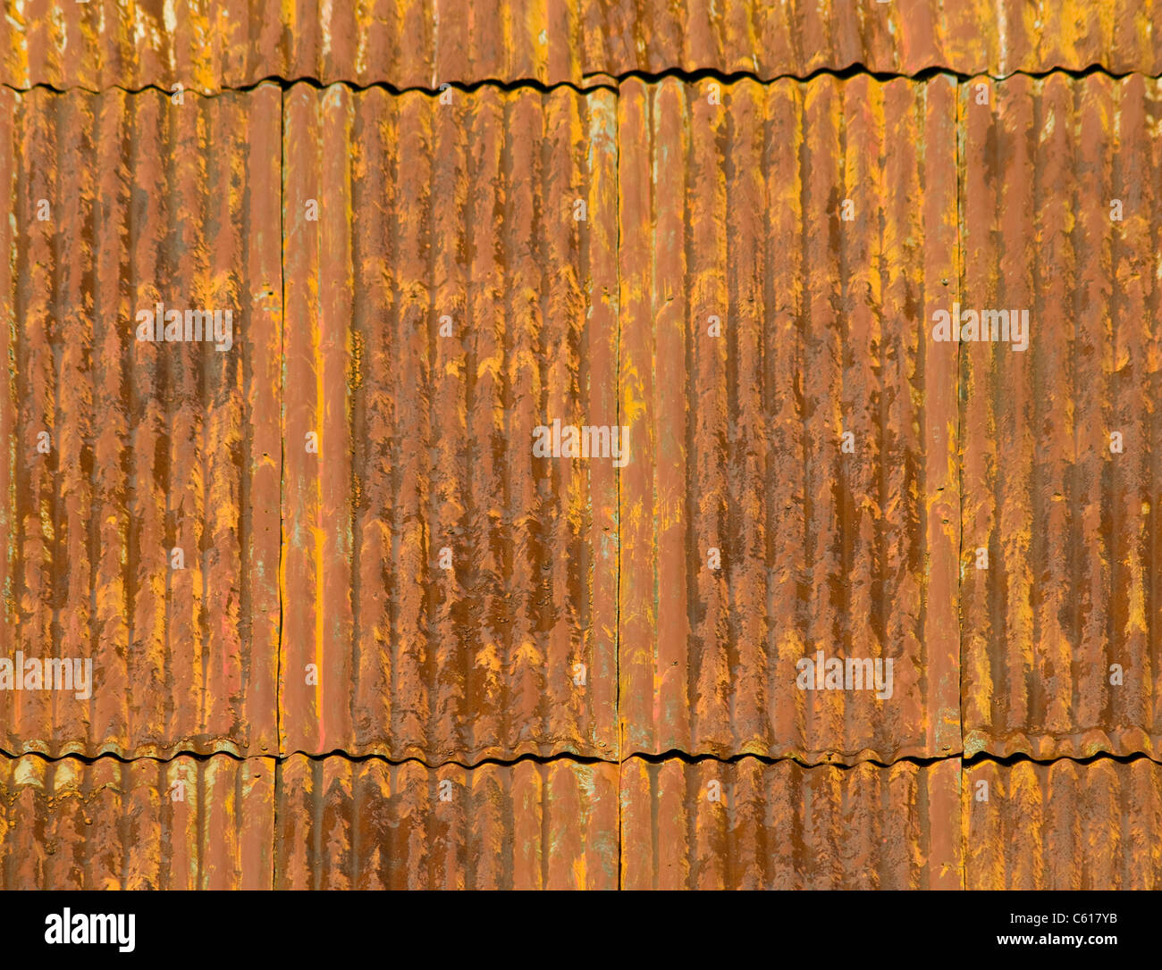 Corroded And Rusty Corrugated Metal Roof Panels Stock Photo Alamy