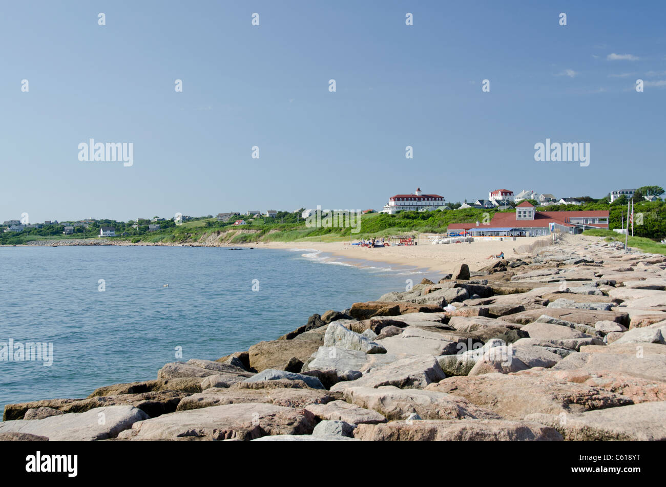 Rhode Island, Block Island (aka New Shoreham). Block Island beach. - Stock Image