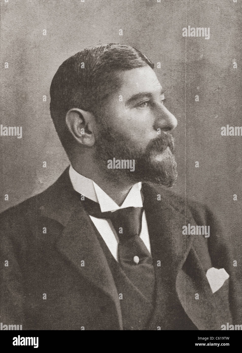 John Roberts, Jr., 1847 – 1919. Professional English billiards player and manufacturer of billiards cues and tables. - Stock Image
