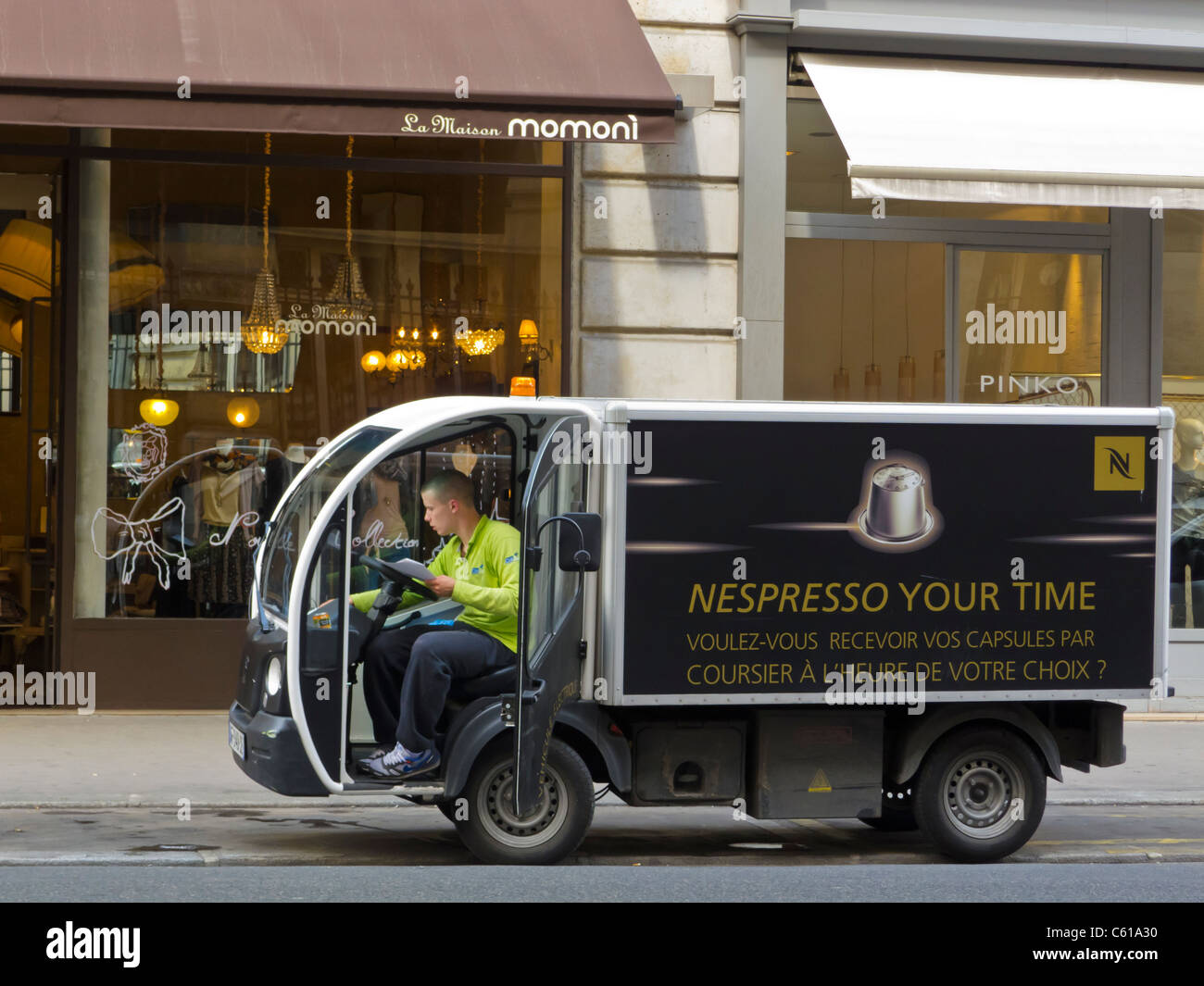 Paris, France, Electric Delivery Truck, Van on Street ...
