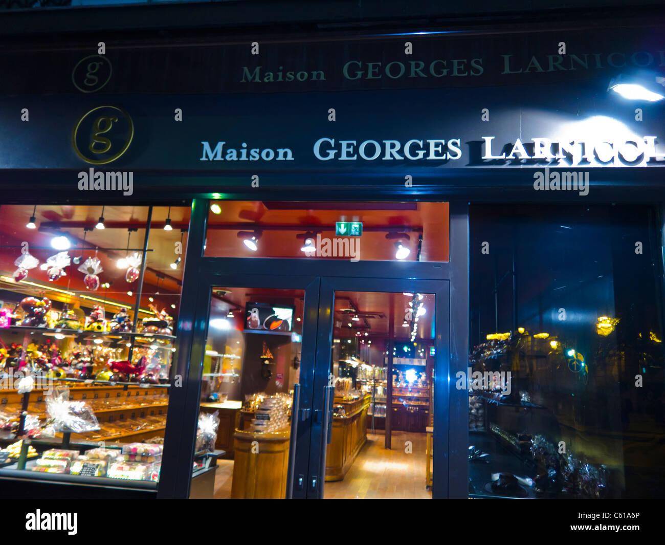 "Paris, France, French Chocolatier, ""Maison Georges Larnicol Stock"