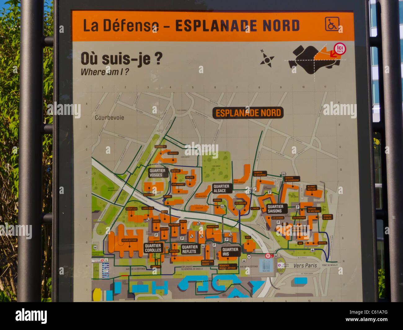 Paris Map District.Paris Map District Stock Photos Paris Map District Stock Images