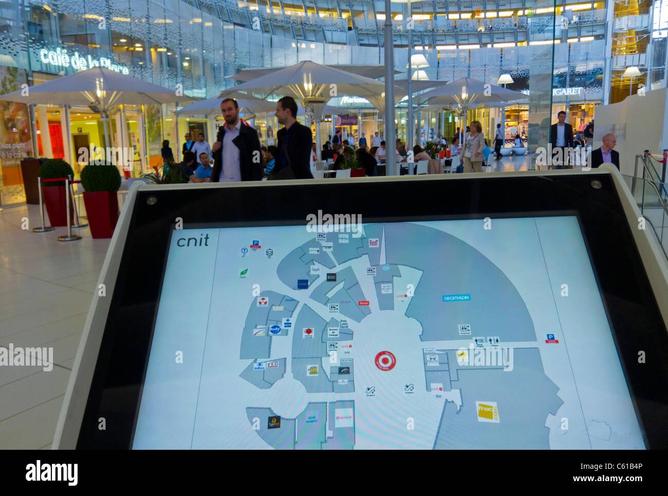 Paris, France, La Défense Business Center, Interactive Electronic Stock Photo: 38139382