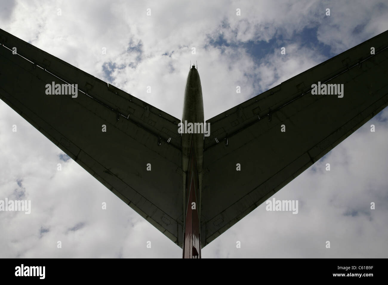 Tailplane of Vickers VC-10 airliner. - Stock Image