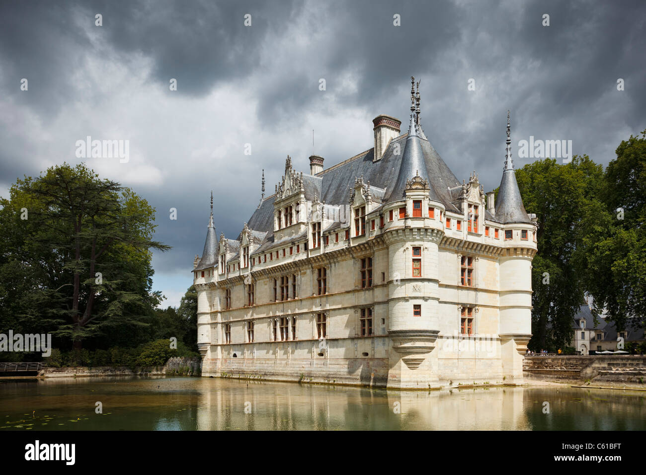 France: Chateau at Azay-le-Rideau, Indre et Loire, France, Europe - Stock Image
