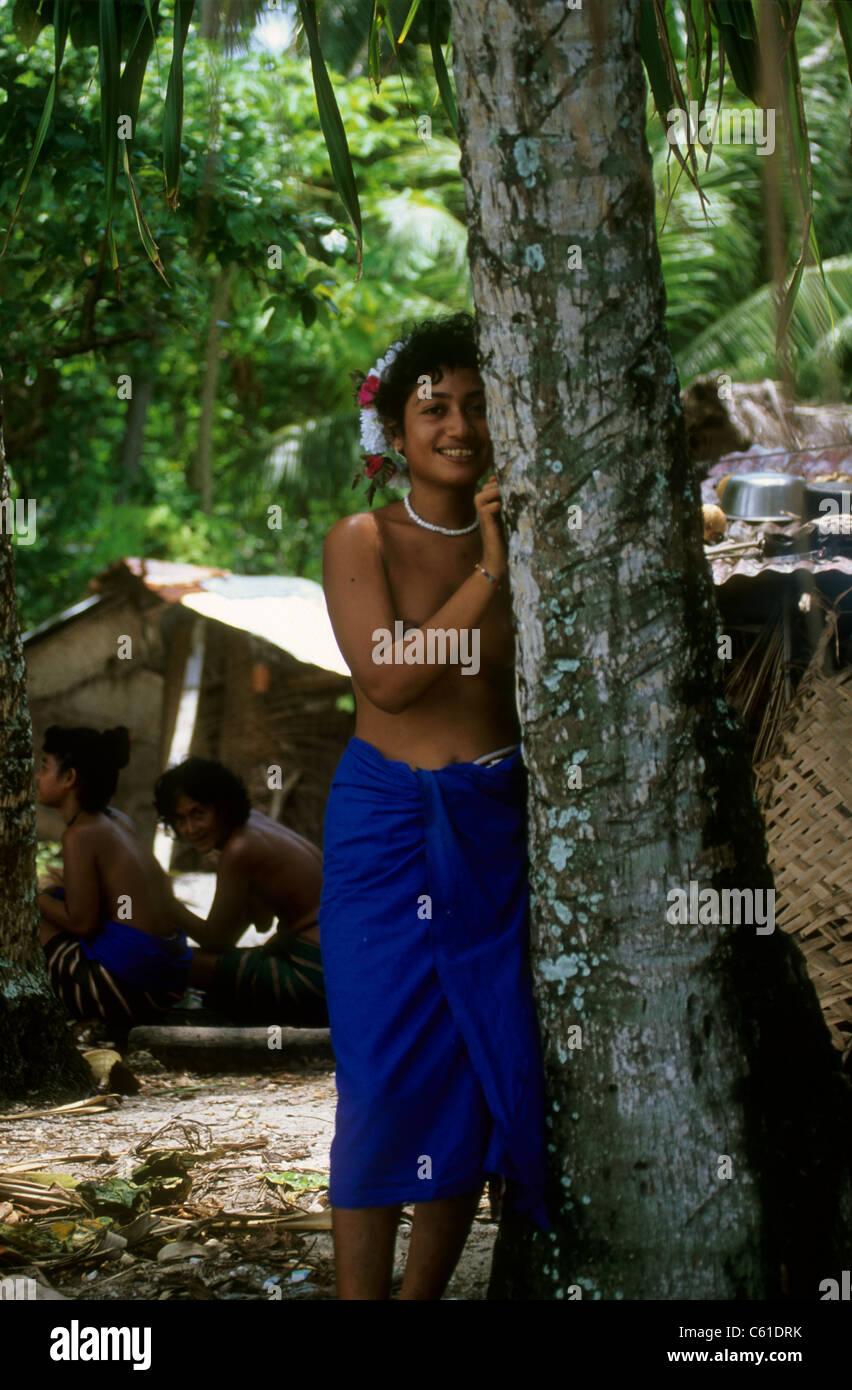 Dancers, Ifalik Island, Yap, Micronesia - Stock Image