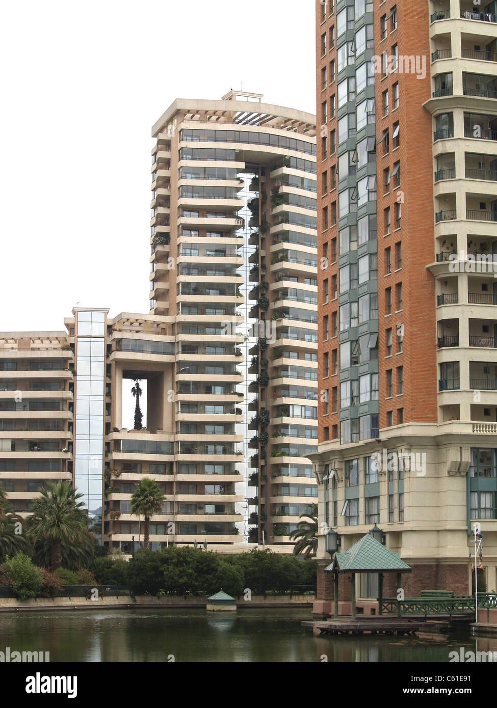 Condominiums, Vina del Mar, Chile - Stock Image